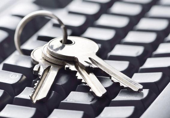 computer keyboard with keys