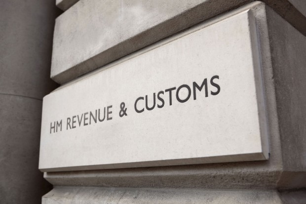 HMRC sign on a wall