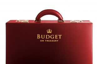 red budget HM Treasury briefcase