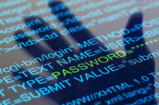 A shadow of a hand hovering over a digital screen with the word PASSWORD highlighted